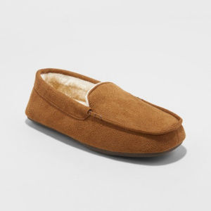 NEW Cat & Jack Moccasin Slippers Faux Suede S 13/1